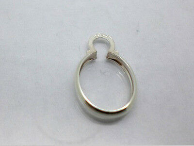 10x8mm - 40x30mm Oval Solid Sterling Silver Cinch Mount Settings