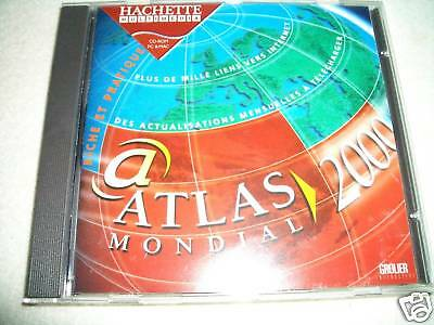 CD-ROM - Atlas Mondial 2000 - Hachette Multimedia - Pour PC & MAC