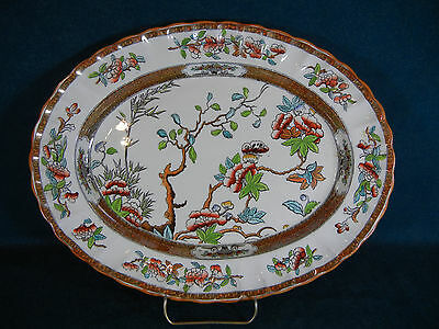 """Copeland Spode Indian India Tree Old Mark Pattern 2/916 Oval 13"""" Serving Platter"""