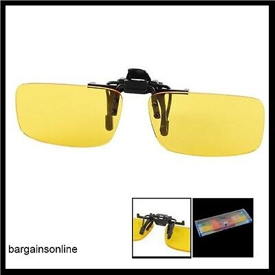 Vision de Nuit Polarisé Conduite Glasses-Clip On-Flip Up - sans Reflets - Jaune