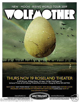 Wolfmother 2009 Portland Concert Tour Poster-Metal Rock