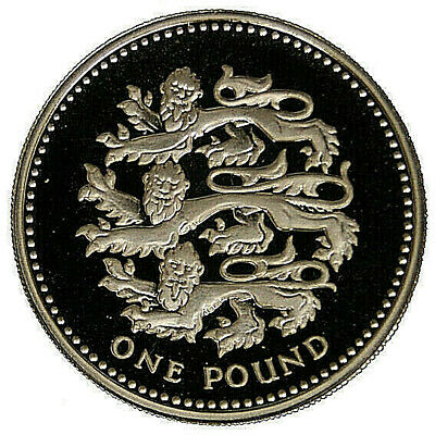 Inghilterra/great Britain 1 Pound 1997 (Three Lions) Argento/silver #5261A