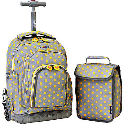 J World New York Lollipop Kids Rolling Backpack with Wheeled Backpack NEW