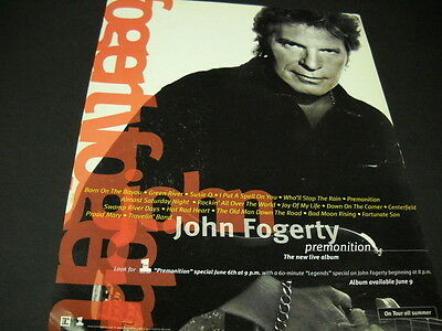 JOHN FOGERTY from Creedence 1998 Promo Poster Ad PREMONITION available June 9