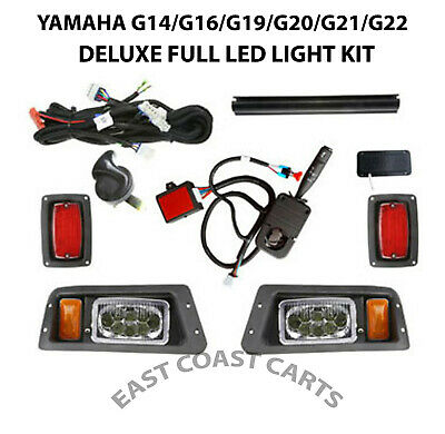 Yamaha G14-G22 Golf Cart DELUXE FULL LED Light Kit w/LED Head & Taillights
