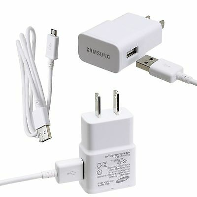 New OEM Samsung ETA-U90JWE 2 Amp Home Travel Charger+Cable for Micro USB Phones
