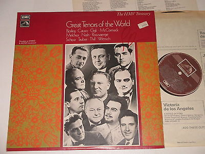 LP/GREAT TENORS OF THE WORLD/Emi His Masters Voice HLM 7004 +Insert
