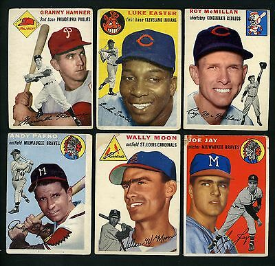 1954 Topps Lot of Different Topps Good condition cards