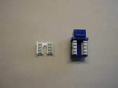 NEW H STYLE TUFF JACKS CAT6 JACK BLUE 100 PACK   USA SELLER!