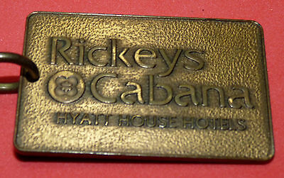 Ricky's Cabana Hyatt House Hotel vintage Hotel key and fob Room 2344