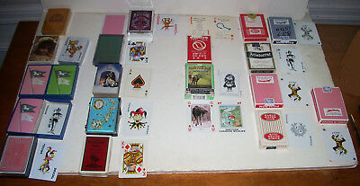 Vintage Playing Card Lot of 17 Decks Bridge Casino Novelty Specialty VG to Mint