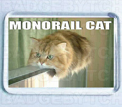 Monorail Cat Small Fridge Magnet -  Cool!