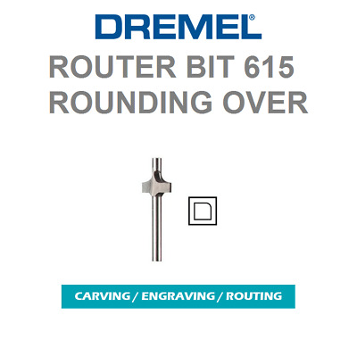 "New Dremel # 615 Piloted Rounding, Round Over Router Bit 1/8"" Shank"