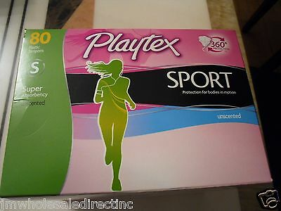 New ! 80 PK Playtex Sport Tampons - Regular Absorbency Unscented