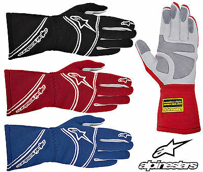 Alpinestars Tech 1 Start Race Gloves, FIA Approved, Nomex, Oval Racing, Rally
