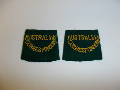 c0389 WW 2   Australian Correspondent Shoulder Tab slip on pair