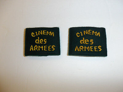 c0393 WW 2 Indochina French Photographer Cinema des Armees shoulder tabs