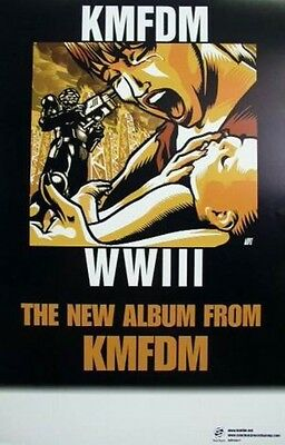 KMFDM 2002 WWIII promotional poster ~~MINT condition~~!!