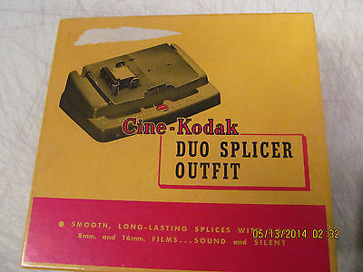 Vintage CINE KODAK DUO SPLICER OUTFIT 8mm 16mm Film Movie Photography Editing