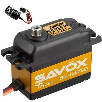 Savox SC-1267SG Super Speed Steel Gear Digital Servo + Glitch Buster