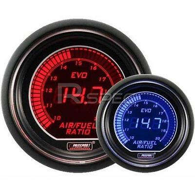 Prosport 52mm EVO Car Air Fuel Ratio AFR Red Blue LCD Digital Display Gauge