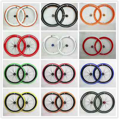 NO LOGO bicycle bike Single Speed wheels wheelsets Fixie 700c flip-flop hub