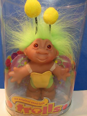 """2006 MOTH - 5"""" DAM Troll Doll - NEW IN CONTAINER - Very Rare Collector's Item"""
