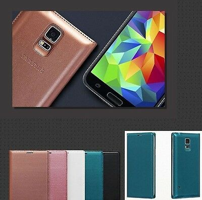 Housse Etui Coque Flip Cover View + 1 Film  Pour Galaxy S5 Samsung S5 I9600 4G