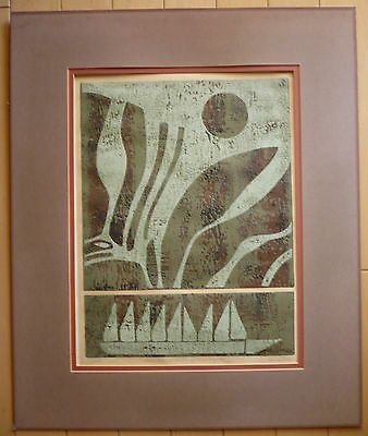 $295 Or Best!! Fine Modern Modernism Print Mod Silkscreen Heavy Texture Signed