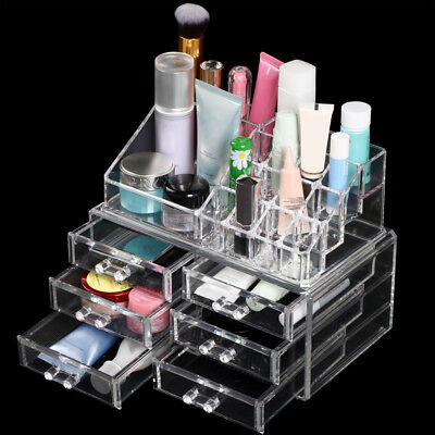 Jewellery Box Makeup Organiser Cosmetic Storage Beauty Display Drawer Holder & JEWELLERY BOX MAKEUP Organiser Cosmetic Storage Beauty Display ...