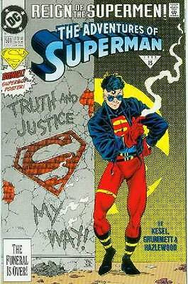 Adventures of Superman # 501 (pull-out Superboy poster) (USA, 1993)