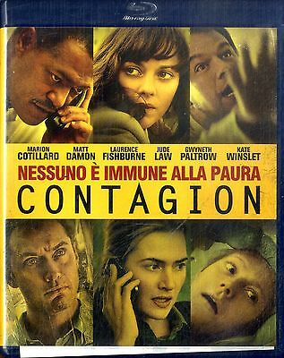 CONTAGION Matt Damon Gwyneth Paltrow Jude Law Kate Winslet BLURAY Come Nuovo