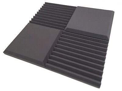 "Advanced Acoustics 24x 15"" Wedge Euphonic Studio Foam Tile Acoustic Treatment"