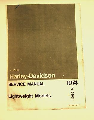 1965-1974 Aermacchi  AMF Harley-Davidson Light wt. Ser Mdls X-90 cc  Illustrated