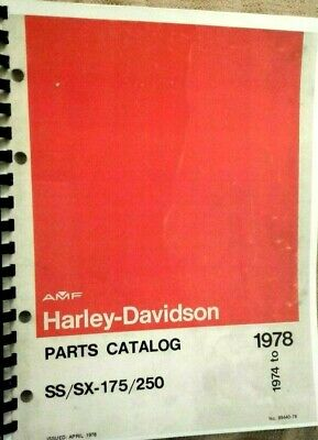 AMF Harley-Davidson 1974-1978  Parts Catalog For The SS/SX 175/250 #99440-78