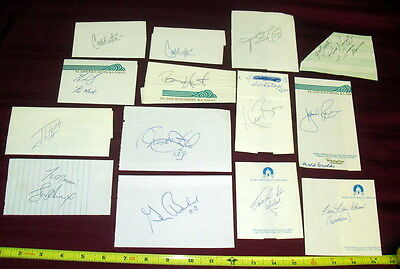 *AUTOGRAPH COLLECTION SALE* HAND SIGNED LOT (14) UNIDENTIFIED MLB PLAYERS 21214