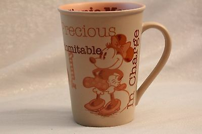 "Disney Minnie Mouse ""Precious, Sweet, Sassy, In Charge"" Mug"