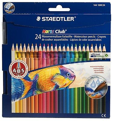 Staedtler 14410CN24 Noris Club Aquarell Watercolour Pencils - Pack of 24