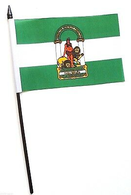 Spain Andalusia Small Hand Waving Flag