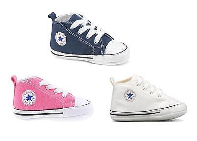 Converse First Star Baby Toddlers Shoe Boys Girls - Navy Blue, White, Pink 1,2,3