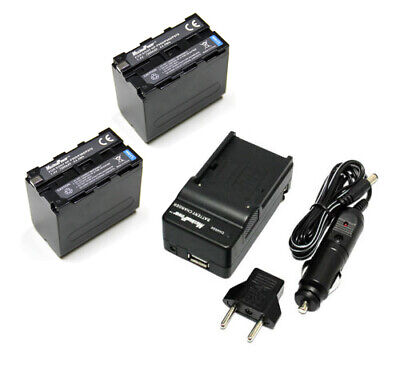 TWO BATTERIES + CHARGER Pack SONY NP-F950 NP-F970 F330 F530 Camera Battery X2