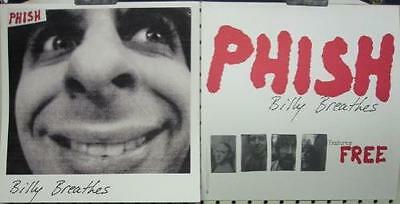 PHISH 1996 BILLY BREATHES promotional poster/flat ~NEW old stock~MINT cond.~!