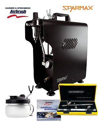 Professional Airbrushing Kit With Evolution 2 in 1 & Sparmax 620X Compressor