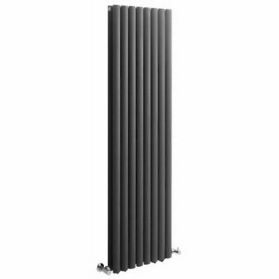 Anthracite Vertical Designer Double Radiator 1780 x 472 Curved Panel Heating Rad