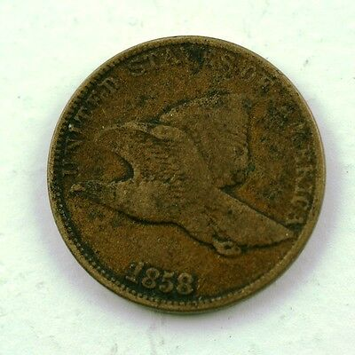 1858 Flying Eagle Cent Or Penny U.s. Coin  Item 582