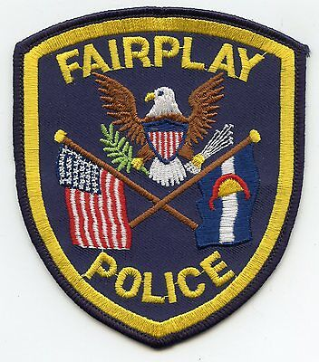 FAIRPLAY COLORADO CO state flag POLICE PATCH