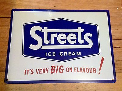 Streets Ice Cream, Metal / Tin, Sign / Plaque, Advertising, Kitchen, New