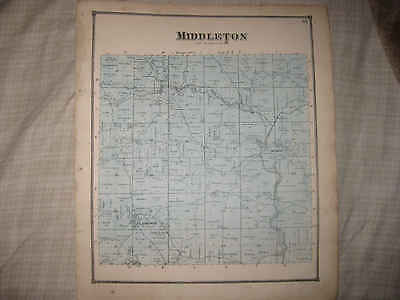 Antique 1870 Middleton Township Clarkson Achor Columbiana County