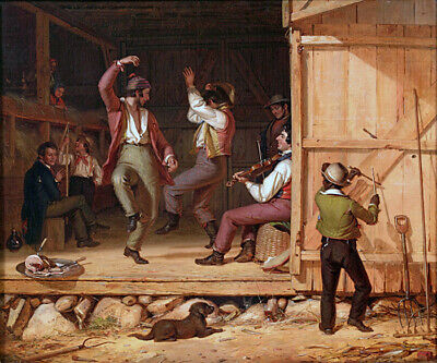 Dance Of The Haymakers 1845 Farm American Painting By William Sidney Mount Repro