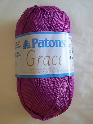 Patons Grace 100 Mercerized Cotton Yarn 1 Sk Choice Color 5 49